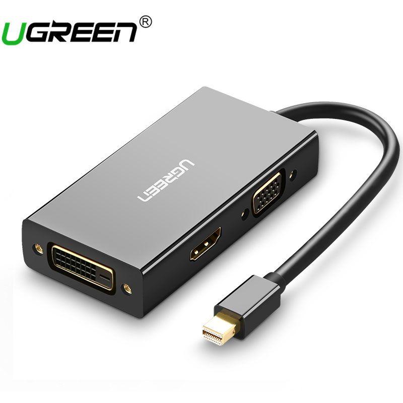 Ugreen Thunderbolt Mini Displayport DP vers HDMI VGA DVI Adaptateur Convertisseur câble Pour Apple MacBook Air Pro Mini DP à HDMI VGA DVI