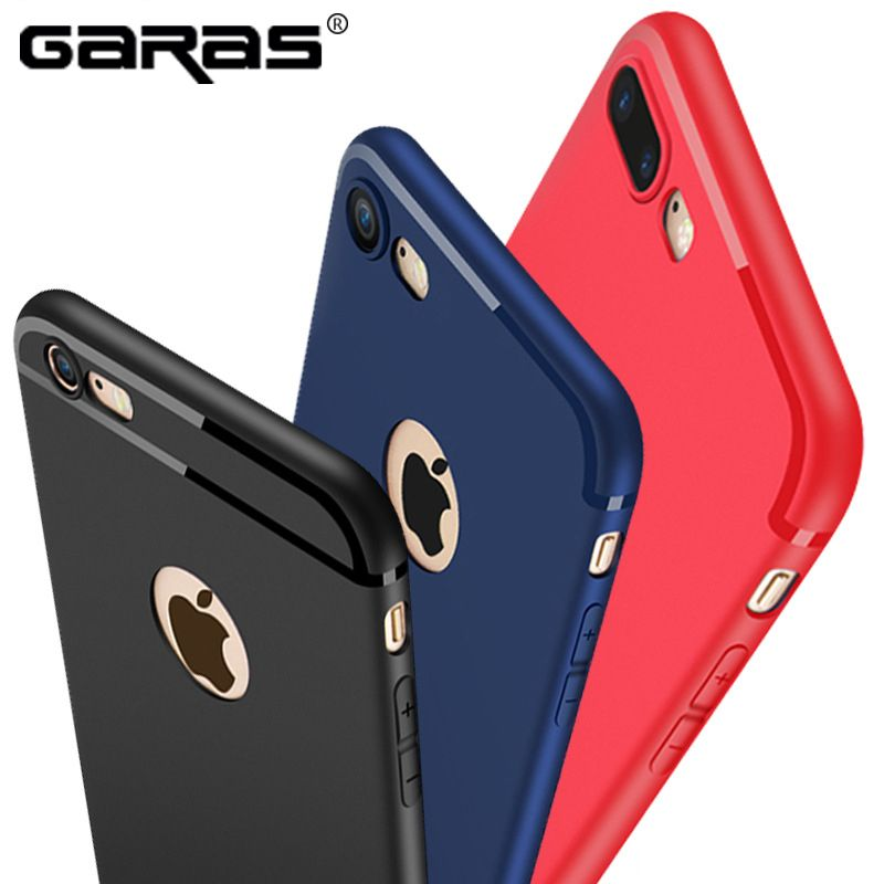 For iphone 7 Case,GARAS Matte Cover For IPhone 7 Plus Case TPU Mobile Phone cover For Iphone 6 Plus 6 S Soft Silicon Cover Cases