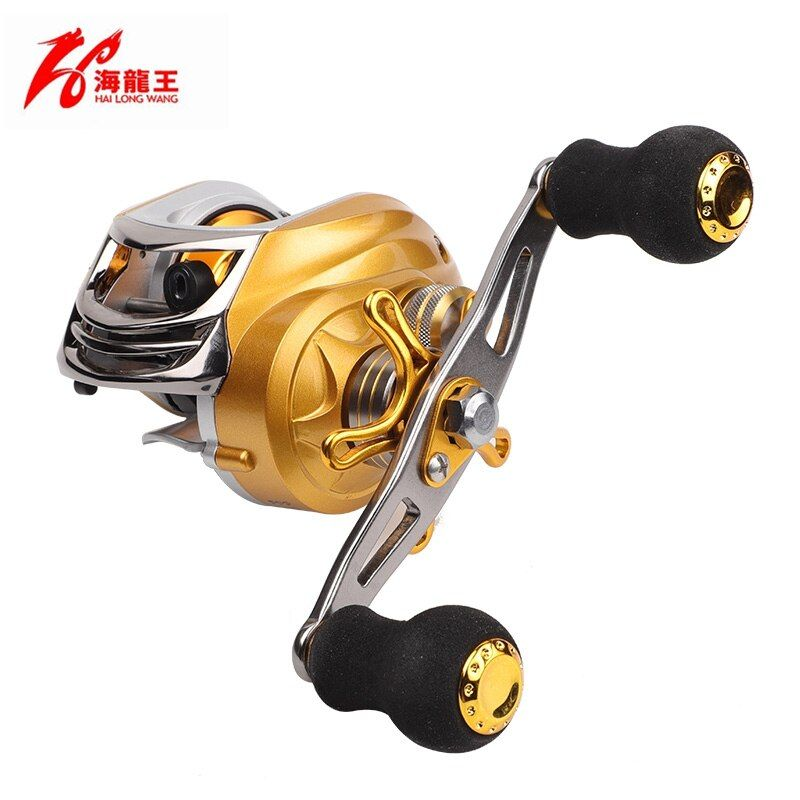 HLW Gold Brand 19 BB Fishing Baitcasting reel Left Right Hand Saltwater Carbon Lure Bait Casting Reel Baitcaster Fishing Reels