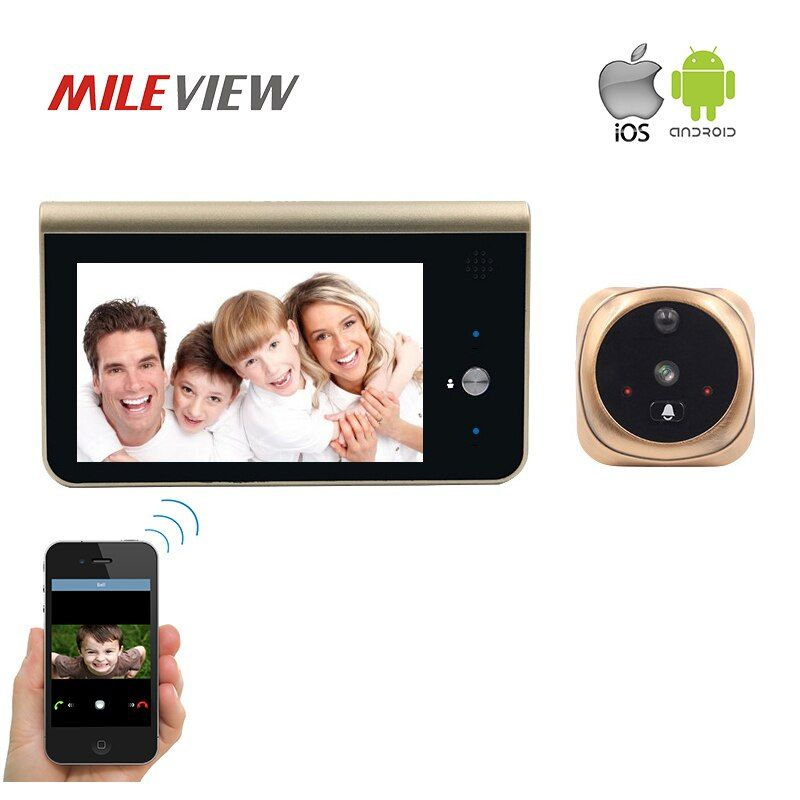 FREE SHIPPING Wifi Smart Peephole Video Doorbell 720P HD Security Camera Door Viewer Motion Detection Android IOS APP Control