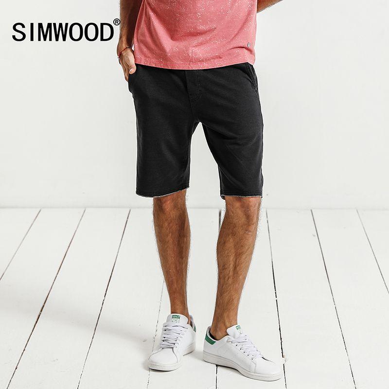 Simwood 2018 новые летние Шорты для женщин Для мужчин Треники модные Повседневное высокое Качественный Хлопок Drawstring Винтаж брендовая одежда ...