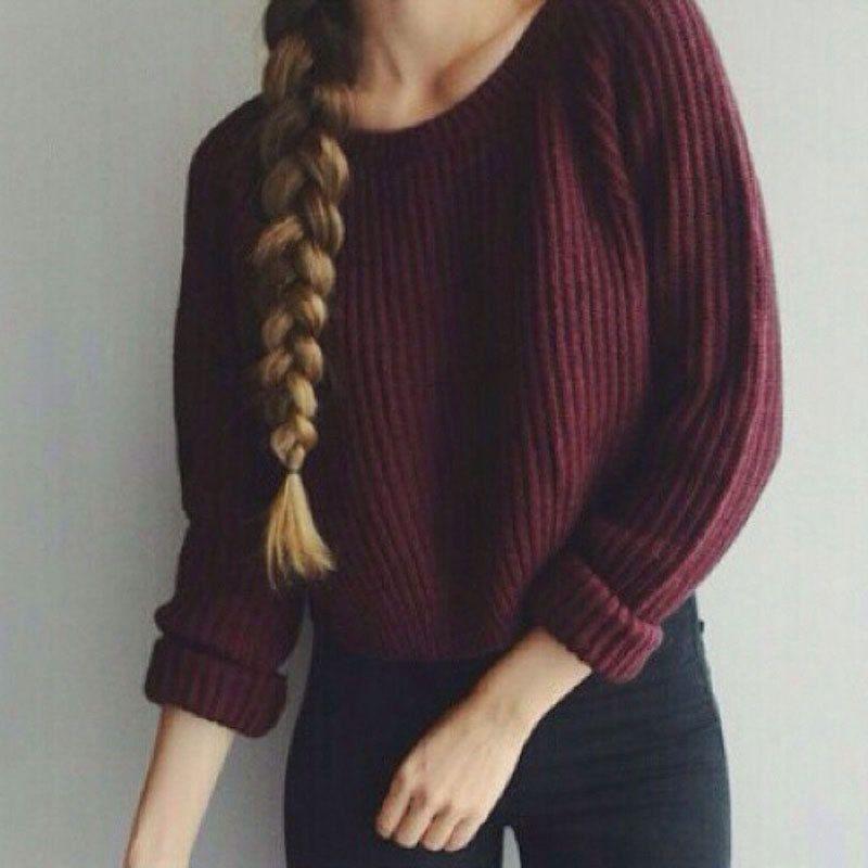 Automne hiver femmes chandails et pulls de style coréen à manches longues cultures casual chandail mince solide pulls sweter mujer