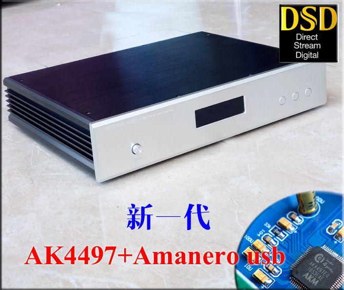 New AK4497 Digital audio decoder DAC + Amanero USB supports DSD upgrade AK4495SEQ