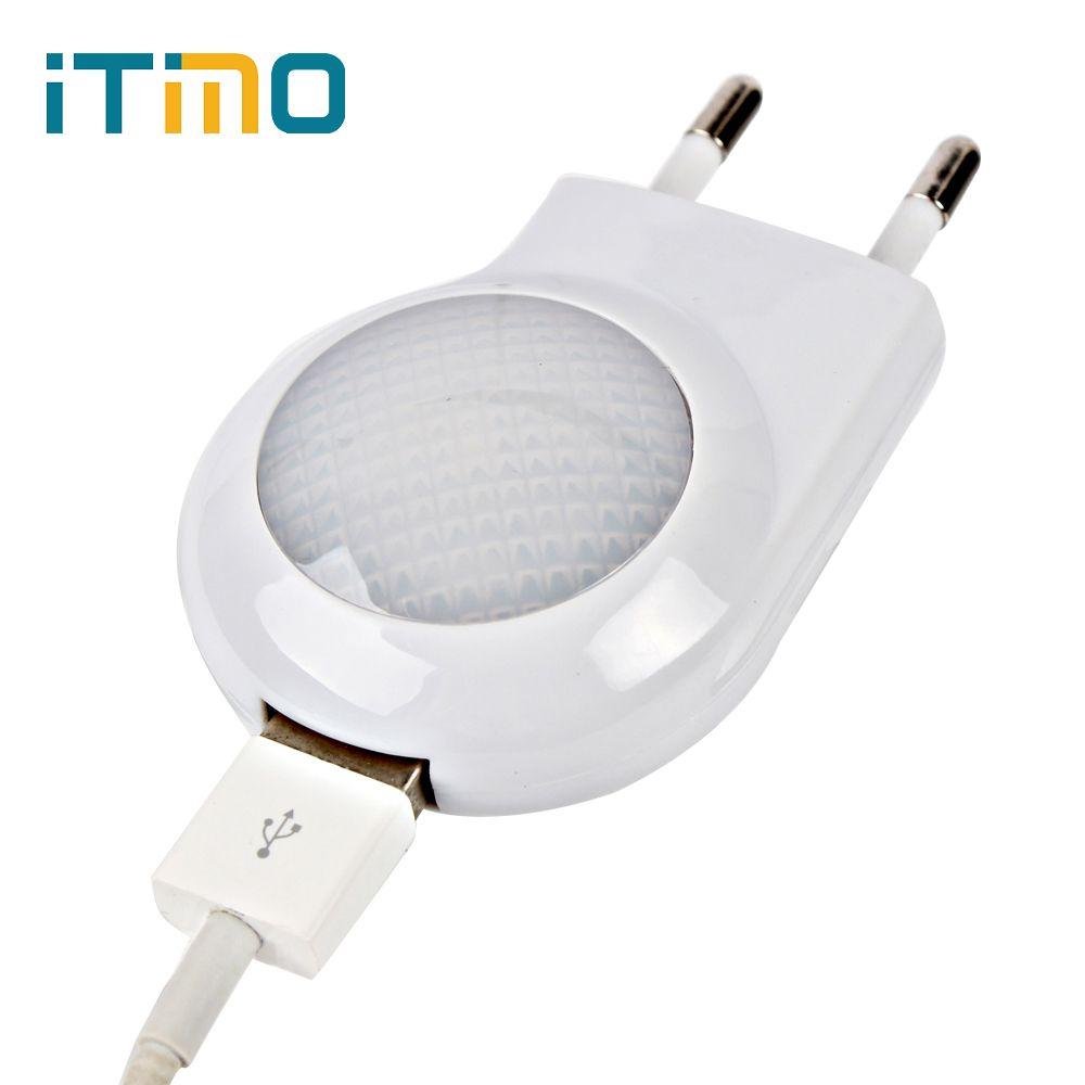 Mini Led-nachtlicht Usb-ladegerät Hohe Qualität Atmosphäre Lampe Für schlafzimmer Dekore Eu-stecker Usb-wandplatte Ladegerät für Handy 5 V 1A