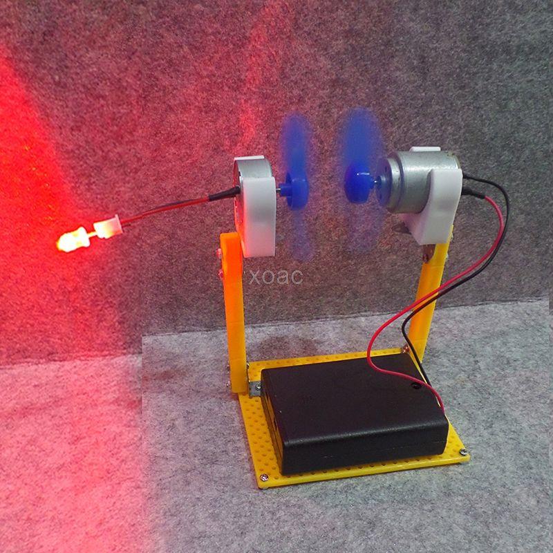 Elektrische Generator Motor Energie Wind Turbine Power Mini Kinder LED Bildung DC AC Auf Lager M10 dropship