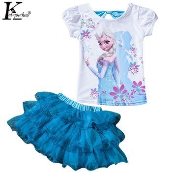 Enfants Vêtements Définit Été Filles Sport Costume Mode MOANA Filles Vêtements Ensembles pour Manches Courtes Enfants Vêtements 3 4 5 6 7 8 Ans