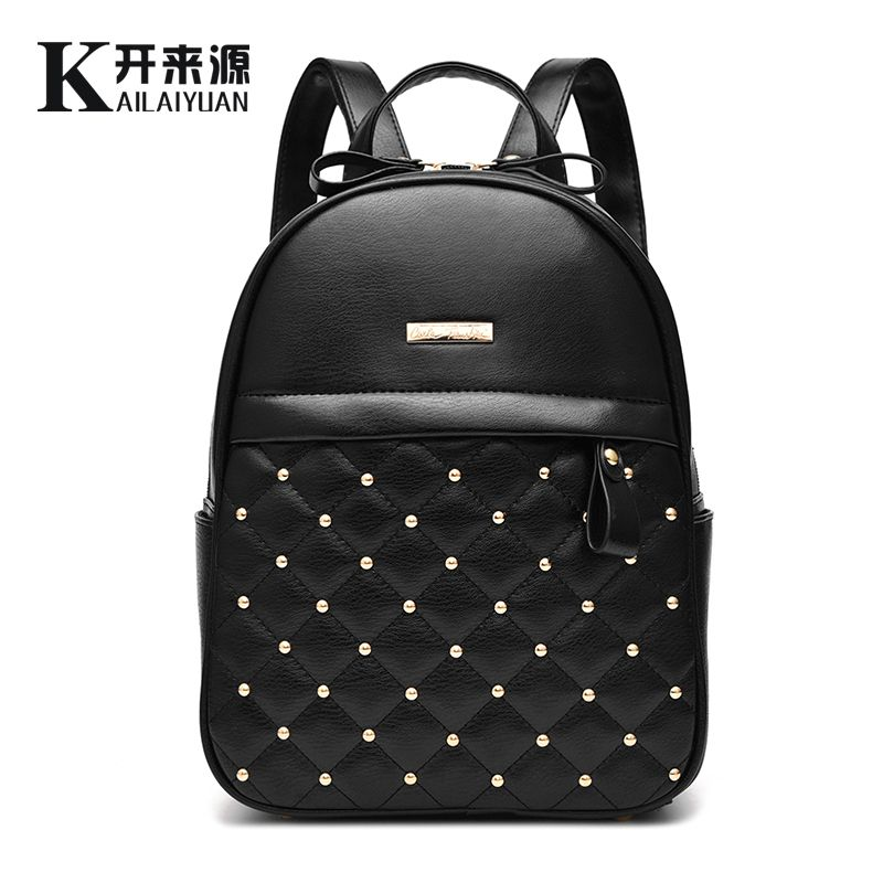 SNBS 100% Genuine leather Women backpack 2018 New shoulder bag new students fashionable Korean Korean female package