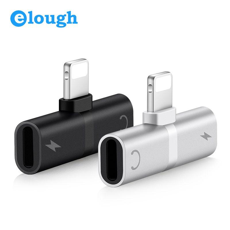 Elough 4 en 1 Fonction Audio Écouteurs et Chargeur Adaptateur Pour iPhone 7 8 Plus X Charge Listenning Musique Appelant Convertisseur Pour IOS