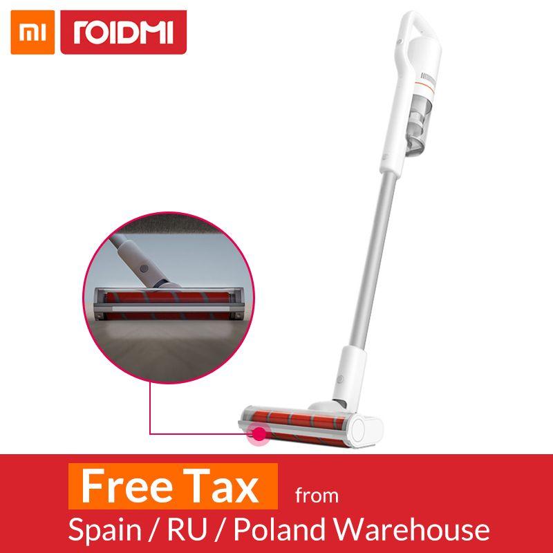 Xiaomi Roidmi F8 Handheld Wireless Staubsauger für Home Teppich Auto Staub Sammler Zyklon Filter Bluetooth WIFI LED Licht