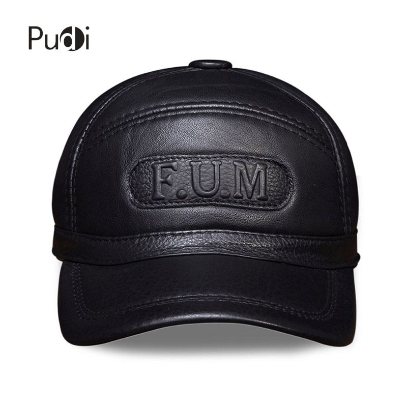 HL062  Men's 100% Genuine Leather Cap /Newsboy /Beret /Cabbie Hat/  hats  Russian winter warm caps  with real fur inside