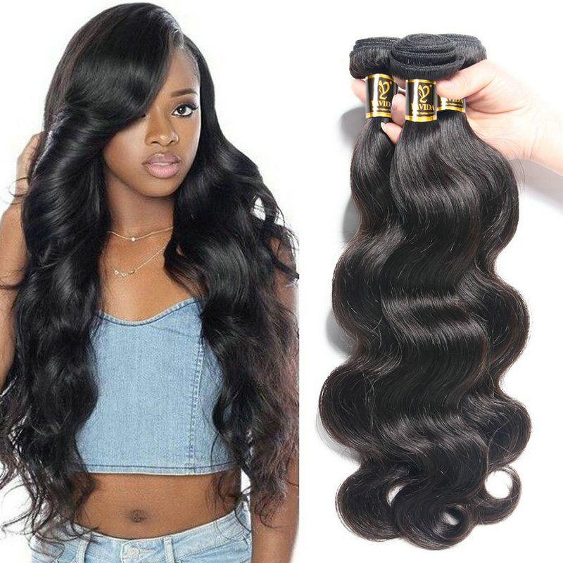 Yavida cheveux indiens vague de corps cheveux paquets couleur naturelle 100% cheveux humains armure paquets non-remy Extension de cheveux 1/3/4 pièce
