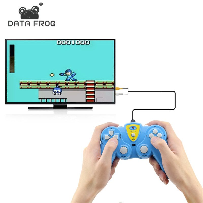 Data Frog Video Game Build In 36 Classic Games Handheld Game Players Support TV Output Controller Plug & Play Gameing Best Gift