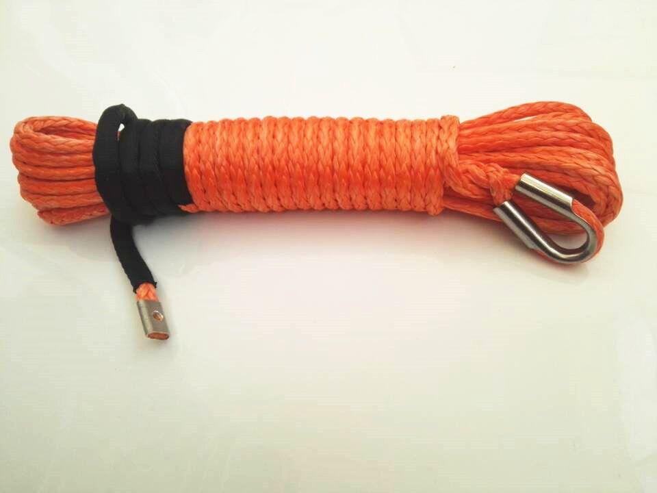 Freies verschiffen orange 8mm * 15 mt synthetische windenseil, 5/16