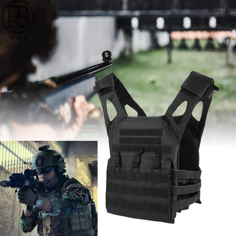 Airsoft 1000D Molle Tactical Vest Simplified Version Military Chest Protective Outdoor Amphibious Pockets Plate Carrier