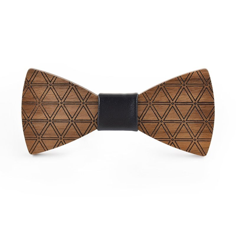 2017Brand new design triangle printed wooden bow tie fashion originality original wooden bow tie suit shirt wedding wooden bow