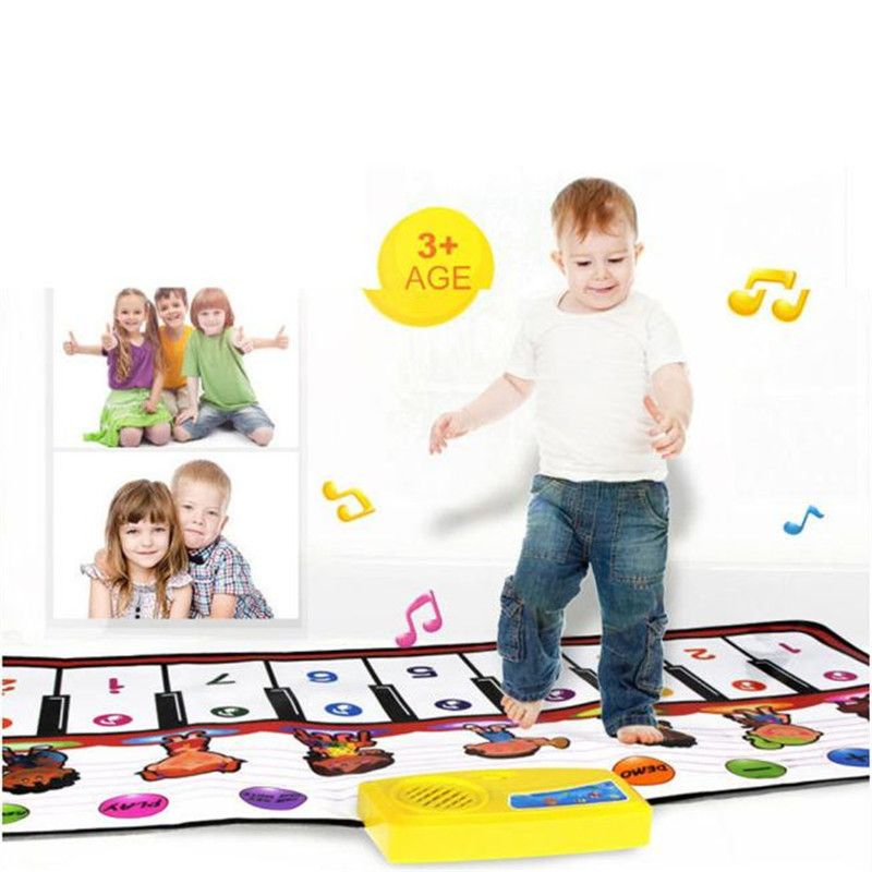Early Learning Children Kid Educational Toys Touch Play Keyboard Musical Music Singing Gym Carpet Mat Best Kids Baby Gift