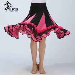 Grosir Gadis Rok Tari Latin Kinerja Rok Stage & Dance Wear Flamenco