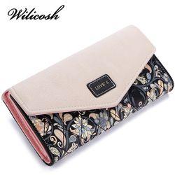 Wilicosh модный принт для женщин женские кошельки кожа кошелек высокое качество женский клатч большой ёмкость WBS125