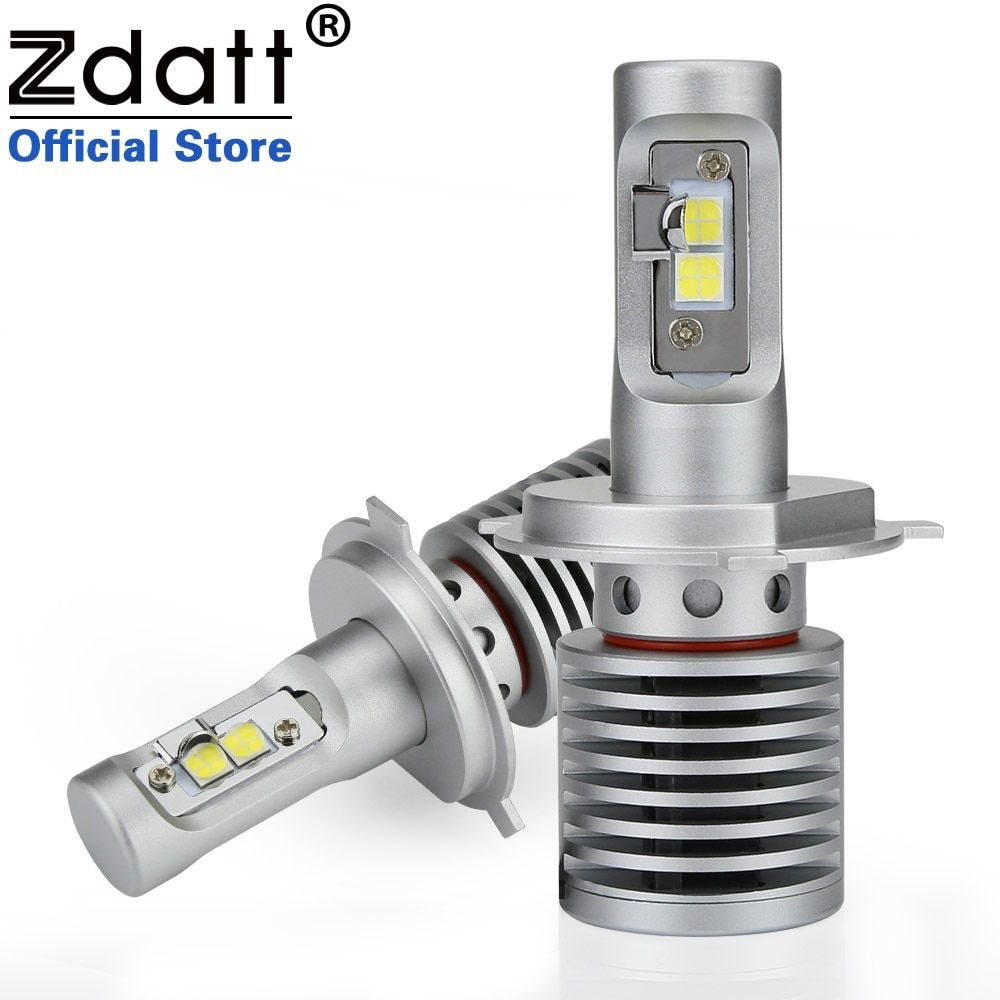 Zdatt 2Pcs High Power H4 Led Bulb 100W 14600LM Auto Headlights H4 H8 H9 H11 9005 HB3 9006 HB4 Car Led Light 12V Automobiles