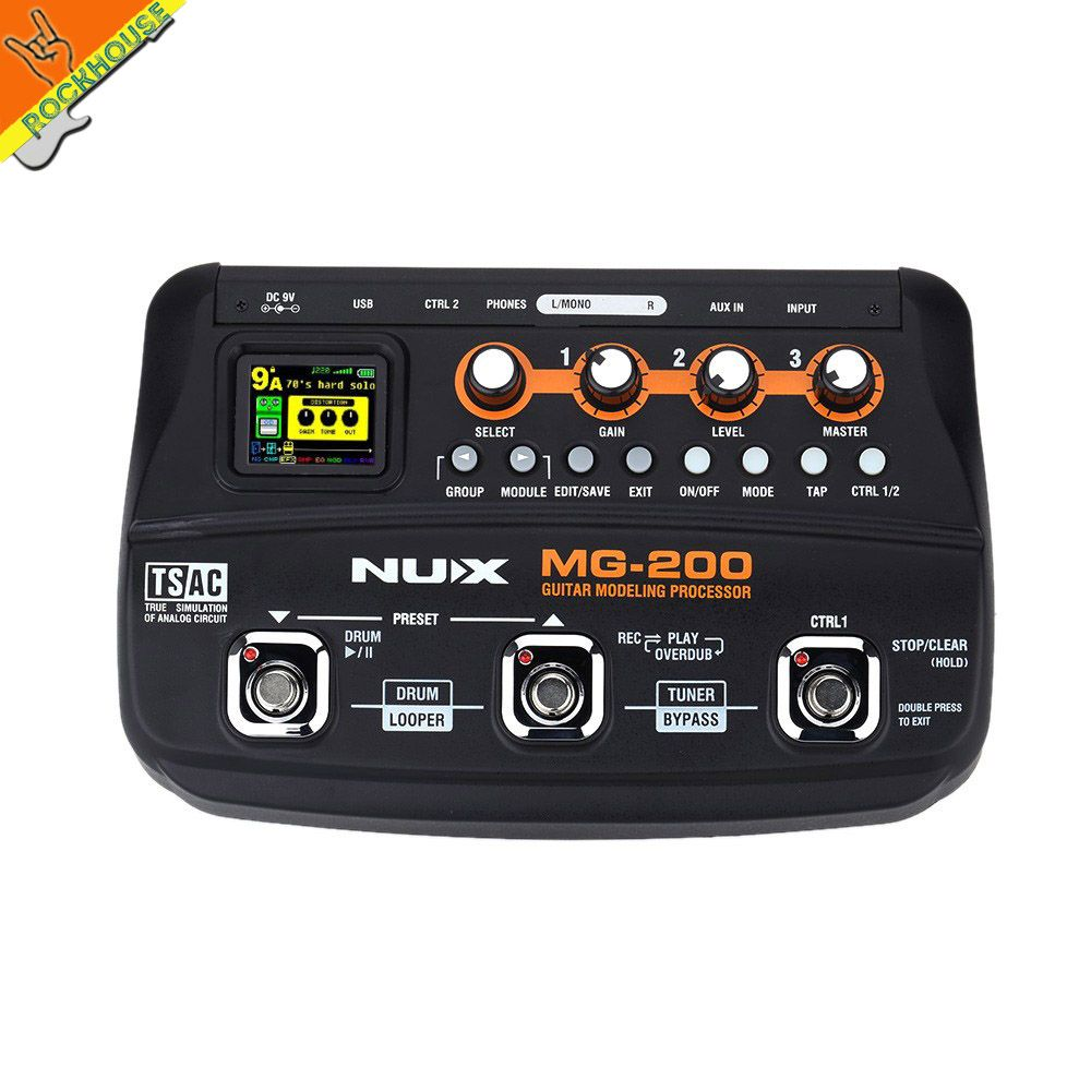 NUX MG-200 Guitar Multi-effects Processor Pedal Guitarra Modeling Floor Processor Effects with 55 Effect Models Free shipping
