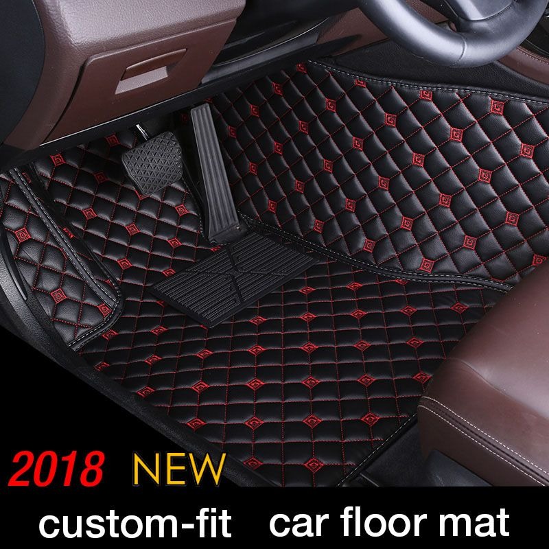Custom Car Floor Mat For Cadillac Escalade Seville SLS ATS ATSL CT6 CTS SLS SRX XT5 sedan Car Styling Floor Mat carpets