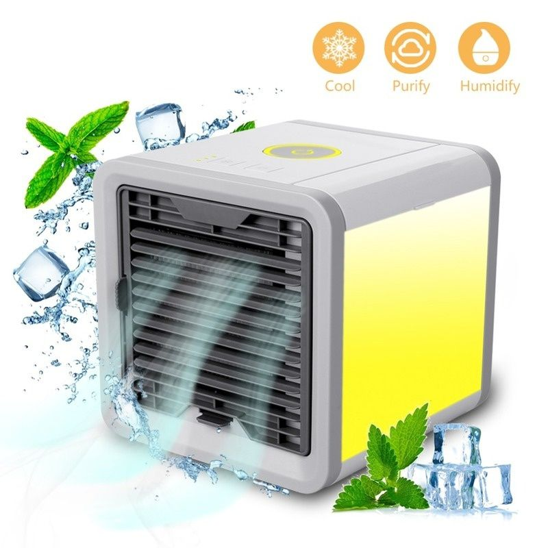 New Artic Air Cooler Small Air Conditioning Appliances Mini Arctic Air Cooler Fans Air Cooling Fan Summer Portable Strong Wind