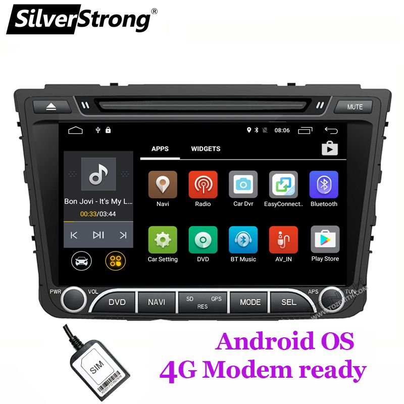 SilverStrong Quad 4Core Android8.1 4G SIM Car DVD For Hyundai Creta IX25 2014-18 with 2GB RAM 4G MODEM GPS Radio Navigation