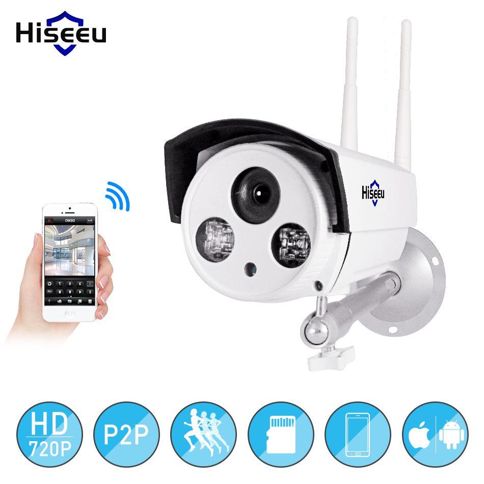 Hiseeu wifi caméra extérieure balle HD 720 P rue IP kamara étanche extérieur sans fil IP caméra cctv surveillance vision nocturne