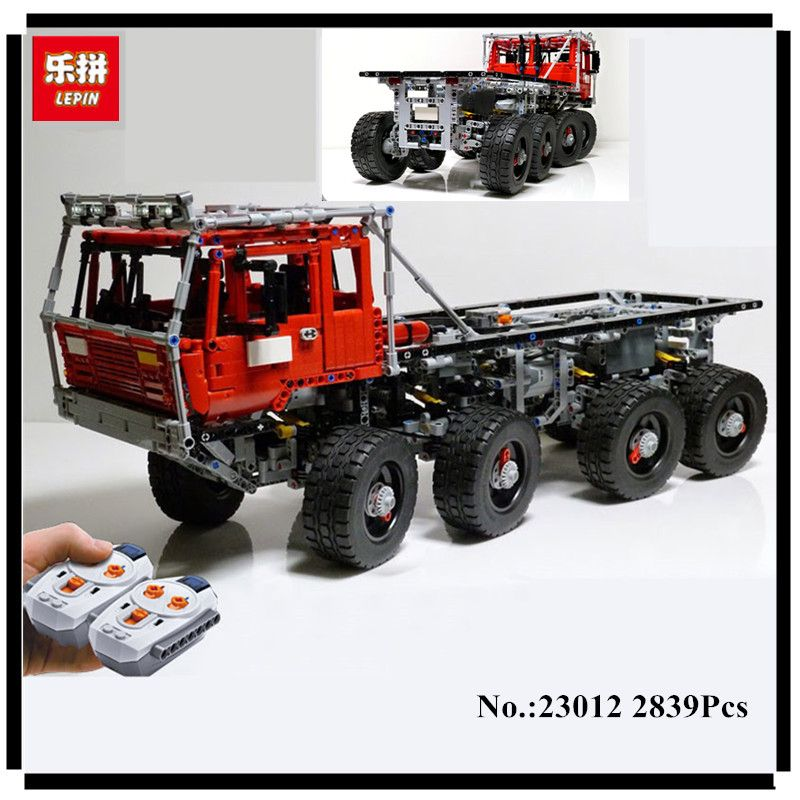 In Stock NEW Lepin 23012 2839Pcs Genuine Technic Series The Arakawa Moc Tow Truck Tatra 813 Educational Building Blocks Bricks