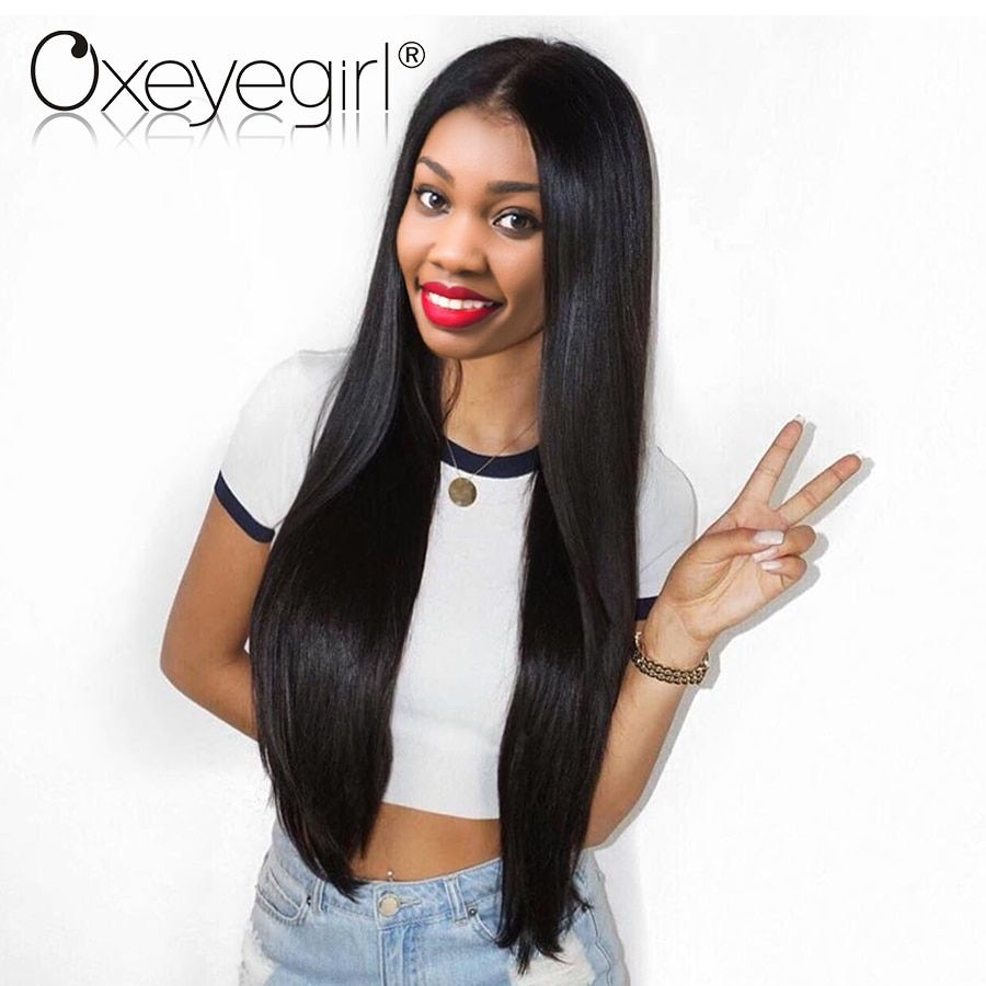 Lace Front Human Hair Wigs With Baby Hair Brazilian Straight Hair Wigs Lace Front Wigs Oxeye girl Nonremy Human Hair Wig 10-28
