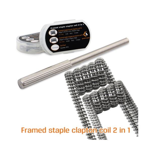 8 teile/paket Original Geekvape Gerahmte Grundnahrungsmittel Clapton Spule 2 in 1 RDA RTA RDTA Zerstäuber Tank DIY Coil Elektronische Zigarette zubehör