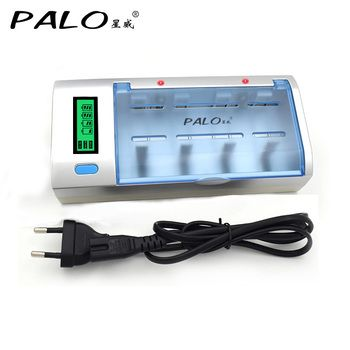 C906W Multi Usage 4 Slots LCD Affichage Batterie Chargeur Pour Nimh Nicd AA/AAA/SC/C/D/9 V Rechargeable batterie