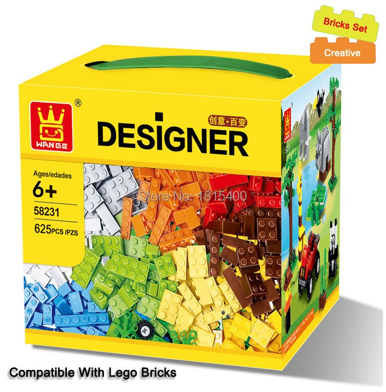 625pcs/lot Kids DIY Toys Educational Building Blocks Compatible With Lego Bricks Parts Boys Early Learning Plastic Assembly Toys