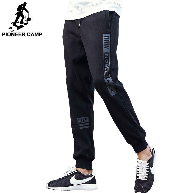 Пионерский лагерь бренд на осень-зиму толстые штаны мужские наивысшего качества повседневные мужские модные флисовые брюки черные теплые ...