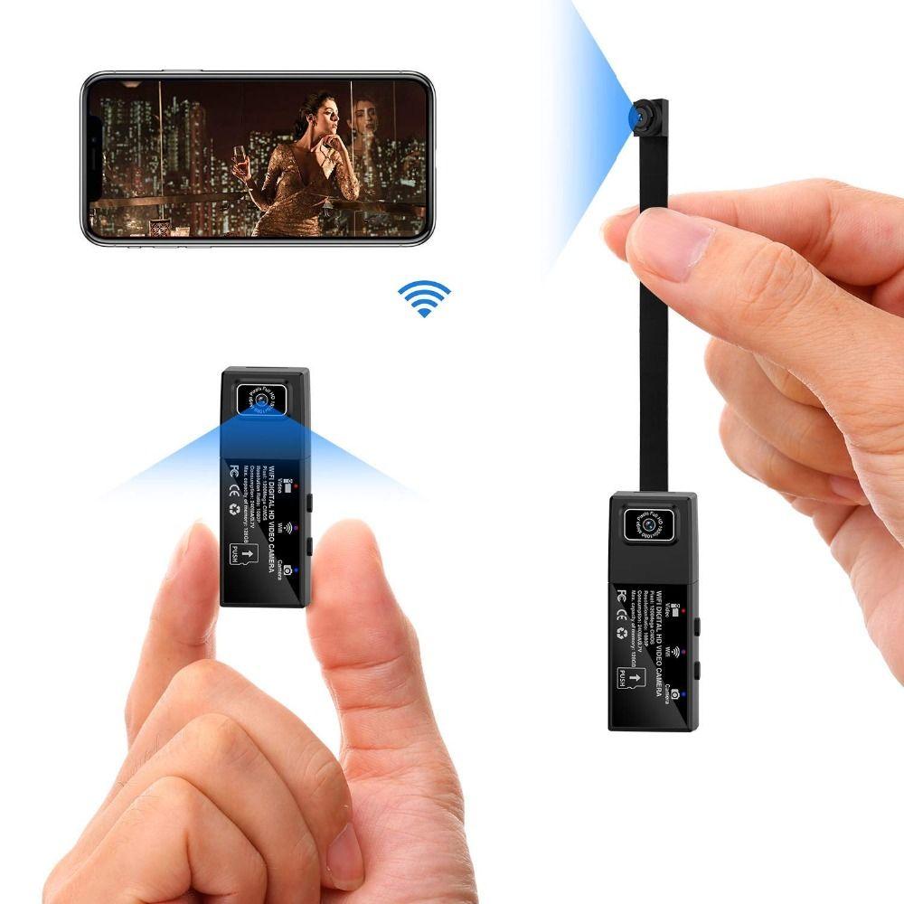 Volle HD 1080 P Mini Wifi IP Kamera Dual Objektiv Drahtlose Fernbedienung Geheimnis Kamera Motion Detection Micro Kamera Espion tiny cam