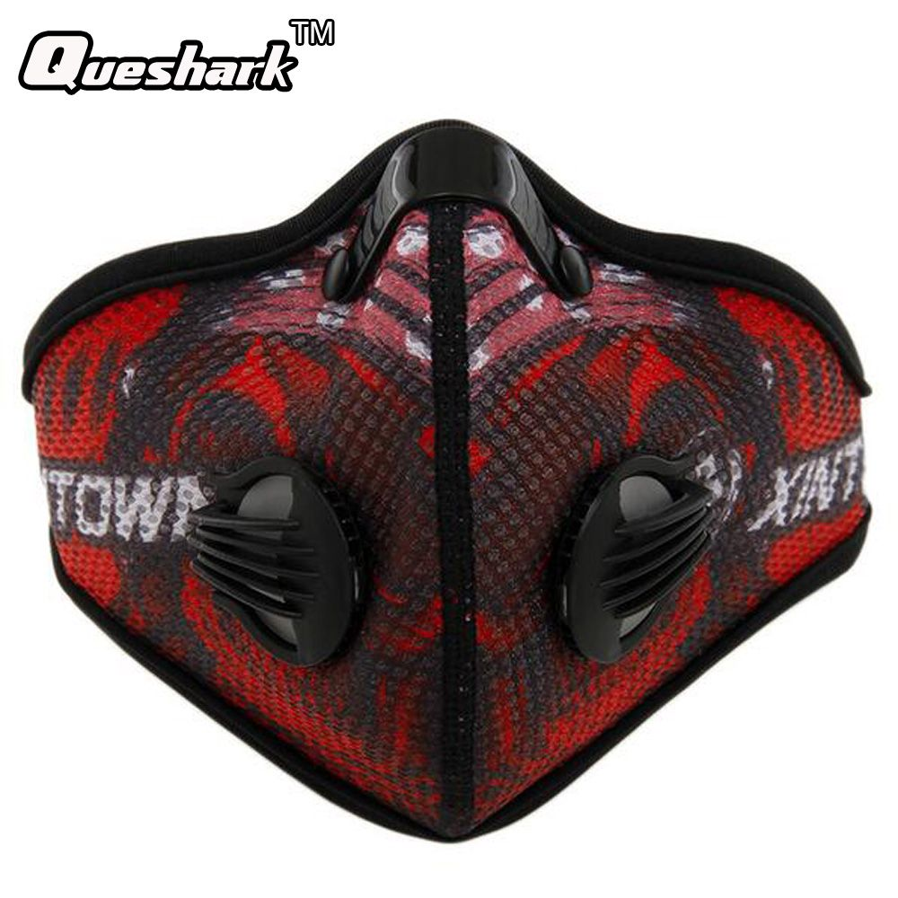 Anti-Pollution Cycling Masks Mouth-Muffle Dustproof Bicycle Sport Carbon Filter Mask Activated Carbon Mesh Cloth Half Face Cover