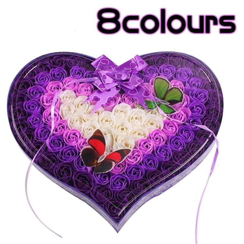 1 шт. Роза праздник день фестиваля Красота подарок матери подарок на день Святого Валентина цветок Мыло цветок коробка подарочная коробка a30