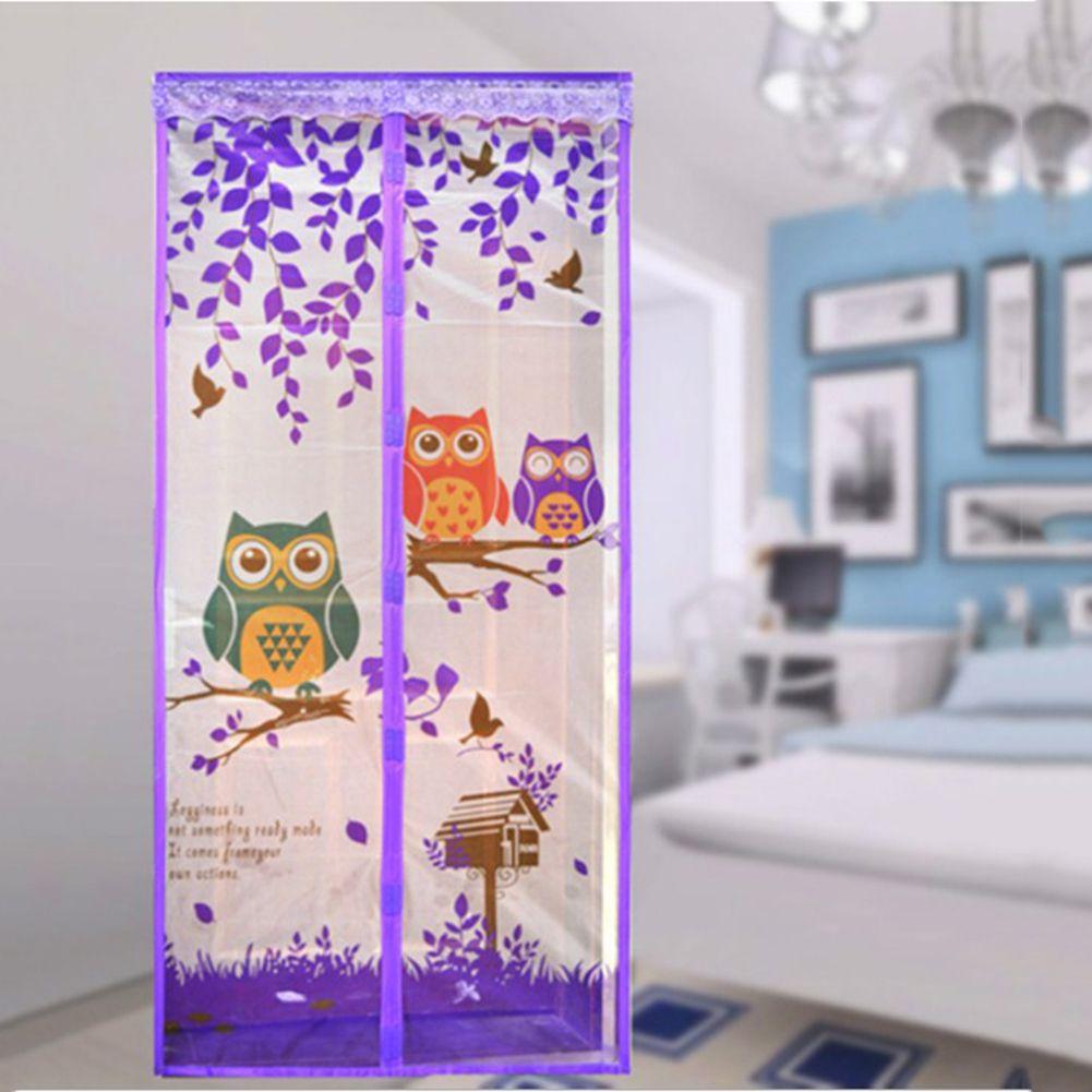 90/100x210 CM Vorhang Anti-mücken Magnetische Tüll Dusche vorhang Automatische Schließen Tür Bildschirm Sommer Stil Mesh Net 4 farbe