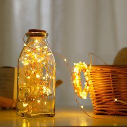 LED guirnalda LED Alambre de alambre de hadas luces 2 m/5 M impermeable luces de Navidad decoración para el nuevo año/Navidad