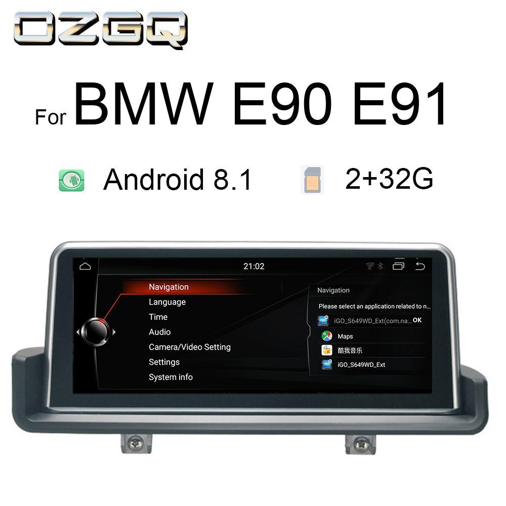 OZGQ 10,25 Zoll Android 8.1 Auto Multimedia-Player GPS Navigation Stereo Steuergerät Für 2005-2012 BMW E90 E91 E92 E93 mit Idrive