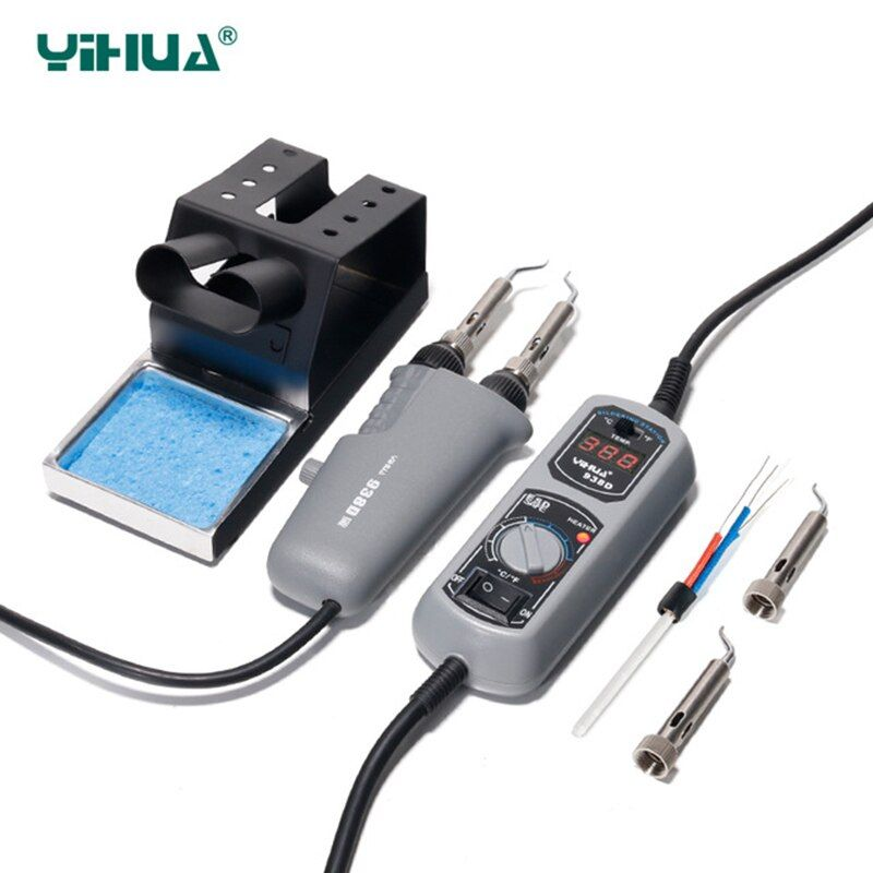 YIHUA 938 Tweezers Mini Soldering iron Station Portable Hot Tweezer for BGA SMD repairing Tweezer iron 110 220V EU US Plug irons