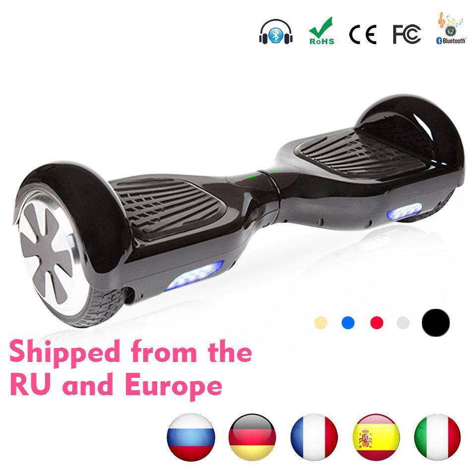 Hoverboard Bluetooth Elektrische Skateboard Smart 2 rad selbst Balance lenkung-rad Stehende roller hover board E lager