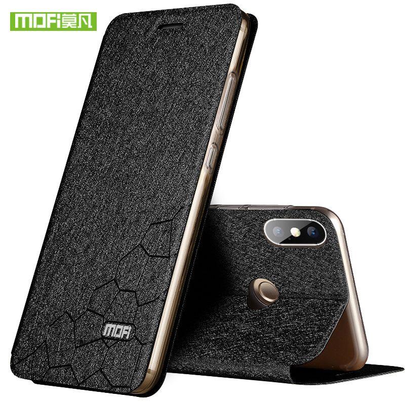 Pour Xiaomi Redmi Note 5 Pro Cas Couverture pour Redmi Note 5 Pro De Silicium De Luxe Flip En Cuir D'origine Mofi Cas pour Redmi Note 5 Cas