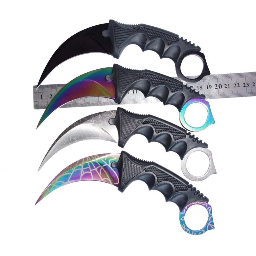CS GO counter strike hawkbill tactical claw karambit neck knife real combat fight camp hike outdoor self defense offensive