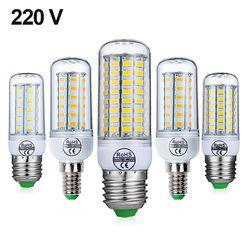 E27 SMD5730 E14 CONDUZIU a Lâmpada Lâmpada LED 220 V Milho Bulbo 24 36 48 56 69 72 LEDs Lustre de Vela DIODO EMISSOR de Luz Para a Decoração da Casa da Ampola