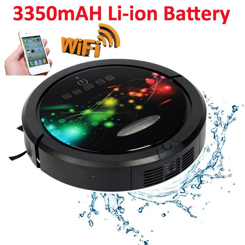Neueste Kommenden WIFI Smartphone APP Control Multifunktions Robotic Staubsauger Für Haus Mit Wasser Tank, 3350 mah Lithium-batterie