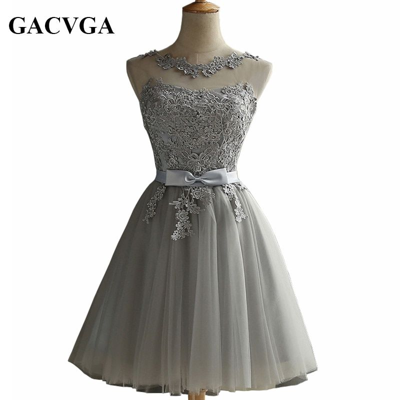 GACVGA 2019 Elegant Lace Diamond Summer Dress Sleeveless Lovely Short Dress For Women Sexy Slim christmas Party Dresses Vestidos
