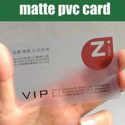 En gros 100 pcs 85.5*54mm Meilleur matt PVC Matériel En Plastique transparent carte de visite vierge cartes en plastique transparent haute qualité