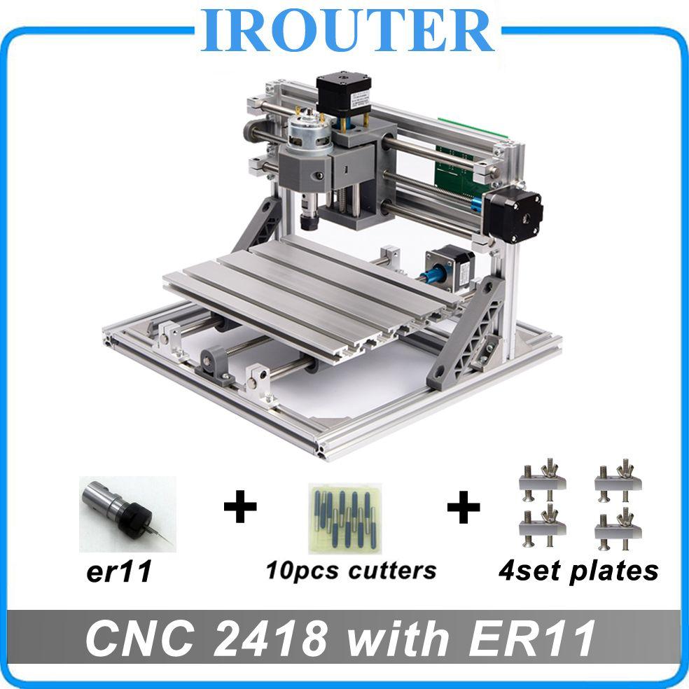 CNC 2418 с ER11, мини ЧПУ для лазерной гравировки, pcb Фрезерные станки, дерево Вырезка маршрутизатор, cnc2418, самые передовые игрушки