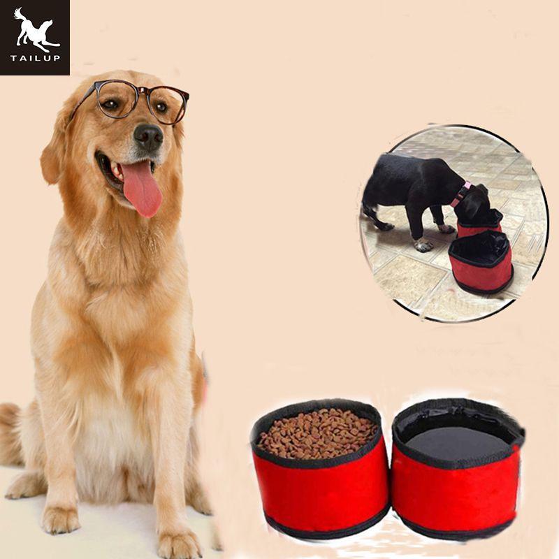 TAILUP pliable chien voyage bols Pet chat nourriture conteneur et embouteilleur pour l'eau 2 en 1 pet nourriture bol chien et chat nourriture sac
